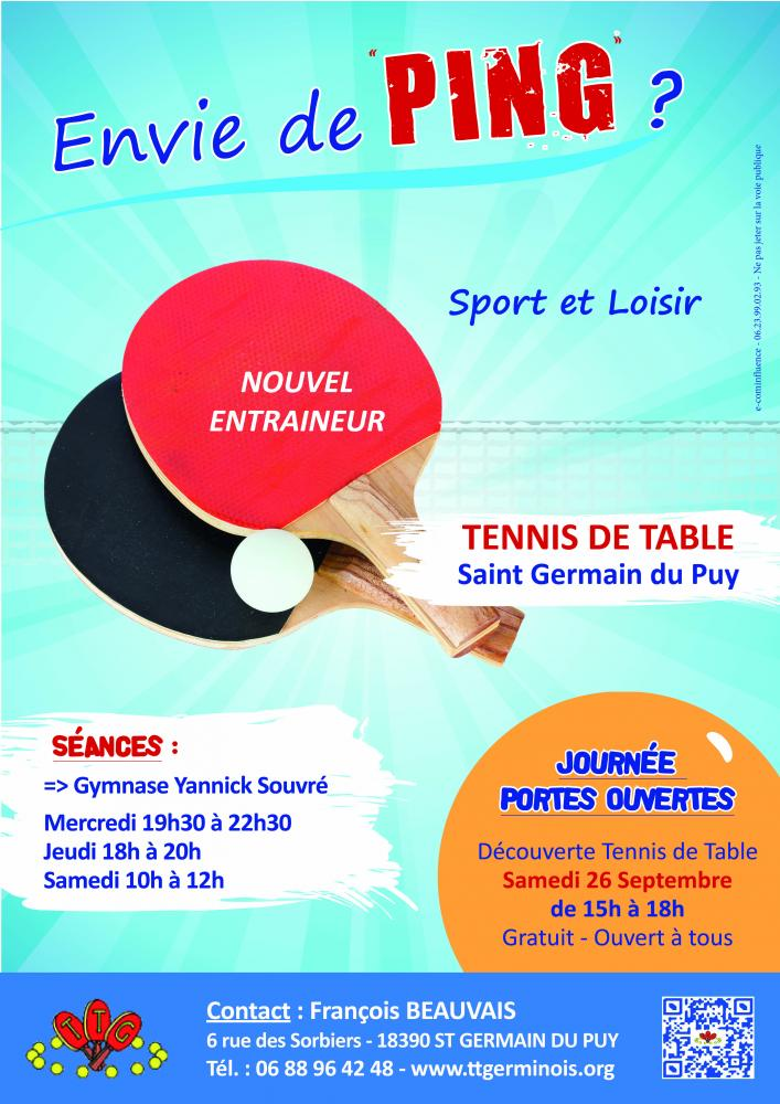Rentr e tennis de table germinois mon projet f te - Federation francaise de tennis de table ...